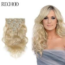 Cheap Thick Clip In Hair Extensions by Popular Blonde Human Hair Extensions Thick Buy Cheap Blonde Human