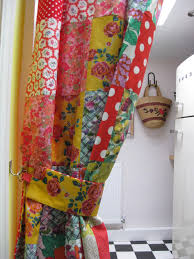 patchwork kitchen curtains to make the curtain i used some