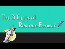 3 Types Of Resumes Know 3 Main Types Of Resume Youtube