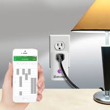 smartphone controlled outlet smart wifi controlled wall outlet go simple home