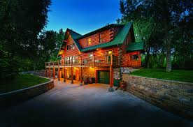 burm home a waterfront log home in south dakota