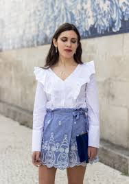 white shirt necklace images Skorts vichy gingham zara blue white ruffles shirt white mango jpg