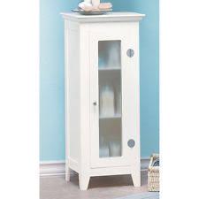 Bathroom Storage White White Manufactured Wood Bathroom Storage Cabinet Furniture 3