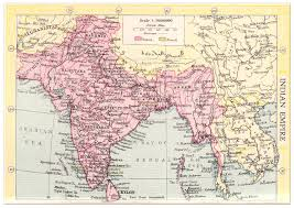 Map India Indian Empire Map 1935 Philatelic Database