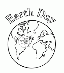 earth day coloring page for kids coloring pages printables free