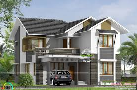 2800 Sq Ft House Plans Sloping Roof Double Storied Home 2800 Sq Ft Kerala Home Design