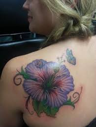 50 butterfly tattoos with flowers for hibiscus flower