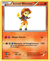 Pokemon Card Meme - sunset shimmer pokemon card hero version by marioandsonicfan19 on