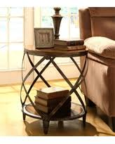 Metal Drum Accent Table Unexpected Christmas Deals For Drum End Table