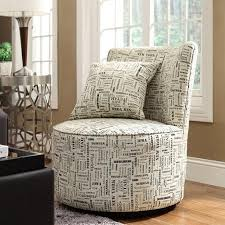 Geometric Accent Chair Round Swivel Accent Chair Facil Furniture