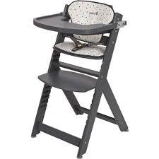 chaise haute volutive bois chaise haute évolutive en bois gris timba safety pas cher à