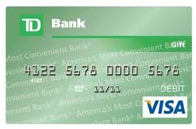bank gift cards www tdbank giftcardinfo how to register and activate your td