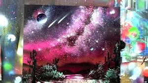 Poster Board For Spray Paint Art How To Spray Paint Milky Way Galaxy Waterfall Trees Jungle Cavern