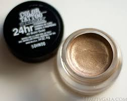 maybelline color 24 hour eyeshadow bold gold photographs