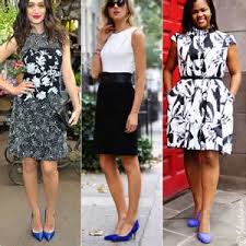 what color shoes to wear with black and white dress 8 what color