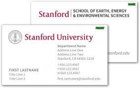 yale business card stationery business cards stanford school of earth energy