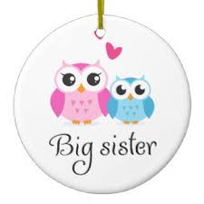 sister cartoon christmas tree decorations u0026 ornaments zazzle co uk