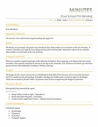 pta minutes template expin franklinfire co