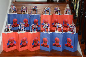 spiderman gift bags they have these at the dollar store lance u0027s