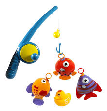 amazon com hook and reel fishing toy playset for kids bathtub