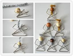 how to make simple paperclip ornaments step by step diy