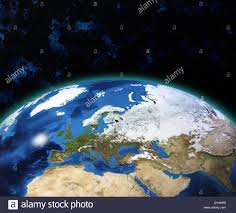 Map Of The Earth Earth Globe Map View Of The Planet From Space Side Of The Europe