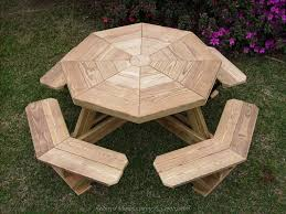 Woodworking Plans For Picnic Tables by Build Your Shed Octagonal Picnic Table Plans An Enjoyable