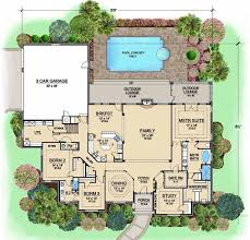 1 story luxury house plans luxury style house plans 3734 square foot home 1 story 3