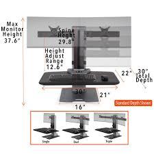 winston e electric single monitor mount sit stand desk stand steady