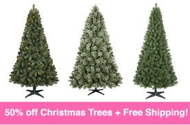 50 off artificial christmas trees free shipping