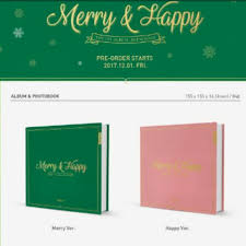 merry and happy shaker album k wave on carousell
