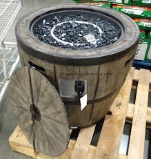 wine barrel fire table costco global outdoors 27 wine barrel gas fire table 199 99