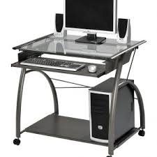 Mobile Computer Desks For Home Furniture Small Mobile Computer Desk Black Finish With Shelf And