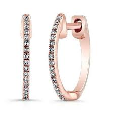 diamond huggie earrings buy gold diamond huggie earrings online sisteron