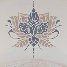 indian flower stencil indian style stencil furniture stencil
