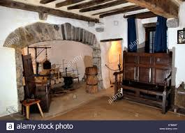 interior of the tudor merchants house late 15th century town house interior of the tudor merchants house late 15th century town house in tenby pembrokeshire west wales uk