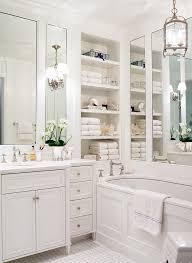 White Bathroom Storage by 25 Traditional Bathroom Design Ideas White Master Bathroom