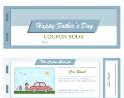 father u0027s day coupon book for apple pages from mactemplates com