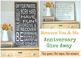two year anniversary gift ideas two year anniversary give away 2 years 2 signs 2 winners