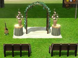 wedding arches sims 3 how to set up a wedding in sims 3 tbrb info
