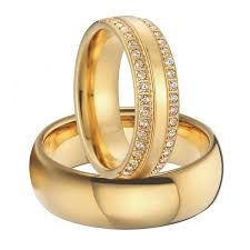 wedding gold rings custom titanium jewelry cz cubic zirconia wedding bands
