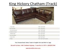 king hickory leather sofa barnett furniture sectionals
