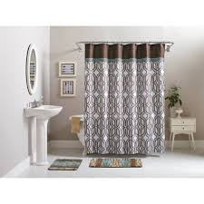 Bathroom Sets Shower Curtain Rugs Better Homes And Gardens 15 Geometric Bath Set Shower