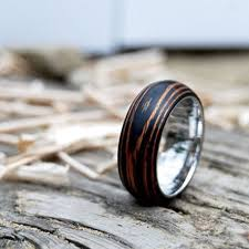 wooden wedding bands 3 mahogany wooden rings to woo your lover