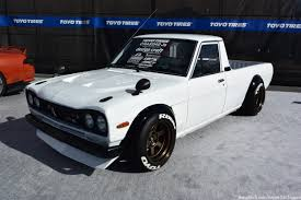 nissan kenmeri bangshift com this skyline nosed nissan sunny truck was an eye