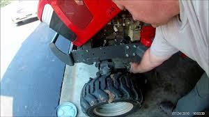 massey ferguson gc1705 tractor 50 hour service part 1 youtube