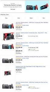black friday ebay 2017 the nintendo switch is being resold on ebay for 25 000 usd