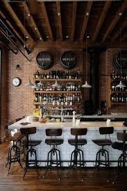Bar Decor Ideas Best 25 Industrial Bars Ideas On Pinterest Pipe Bookshelf