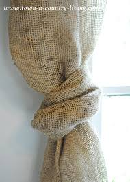 How To Make Swag Curtains No Sew Landscape Burlap Swag Curtains Town U0026 Country Living