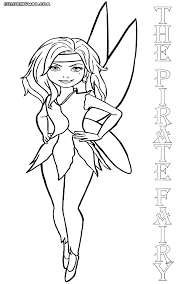 pirate fairy coloring pages nvsi